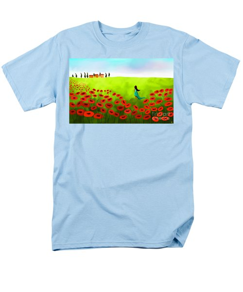 Strolling Among The Red Poppies Men's T-Shirt  (Regular Fit) by Anita Lewis