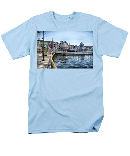 Strolling On The Boardwalk At Disney World Men's T-Shirt  (Regular Fit) by Thomas Woolworth