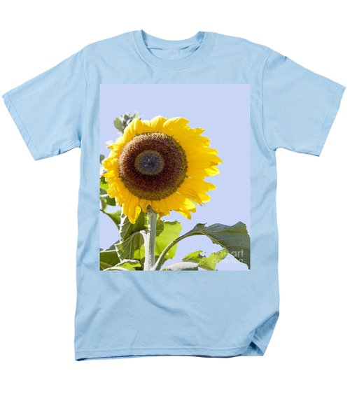 Sunflower In The Blue Sky Men's T-Shirt  (Regular Fit) by David Millenheft