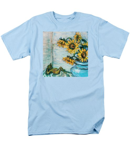 Sunflowers And Frog Men's T-Shirt  (Regular Fit) by Xueling Zou