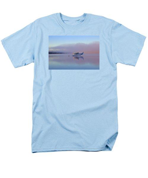 Sunrise On Lake Te Anu Men's T-Shirt  (Regular Fit) by Venetia Featherstone-Witty