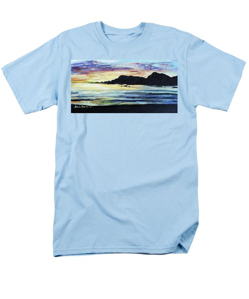 Men's T-Shirt  (Regular Fit) featuring the painting Sunset Beach by Shana Rowe Jackson