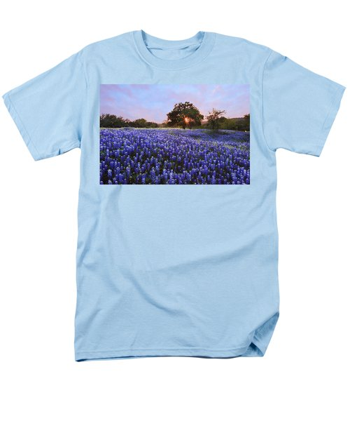 Sunset In Bluebonnet Field Men's T-Shirt  (Regular Fit) by Susan Rovira