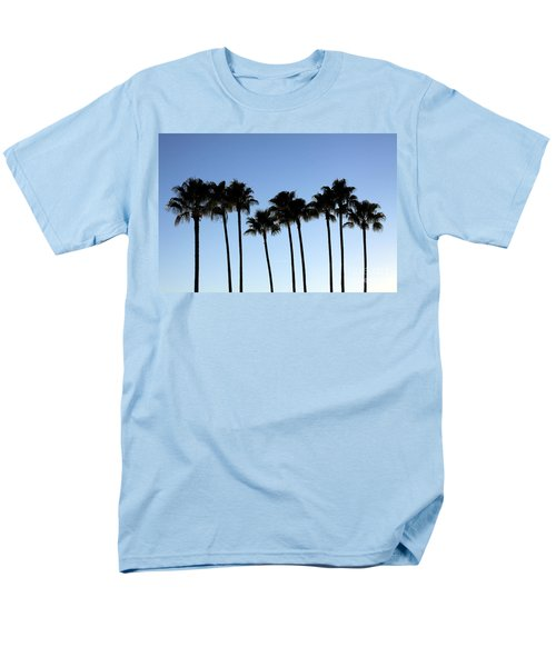 Men's T-Shirt  (Regular Fit) featuring the photograph Sunset Palms by Chris Thomas