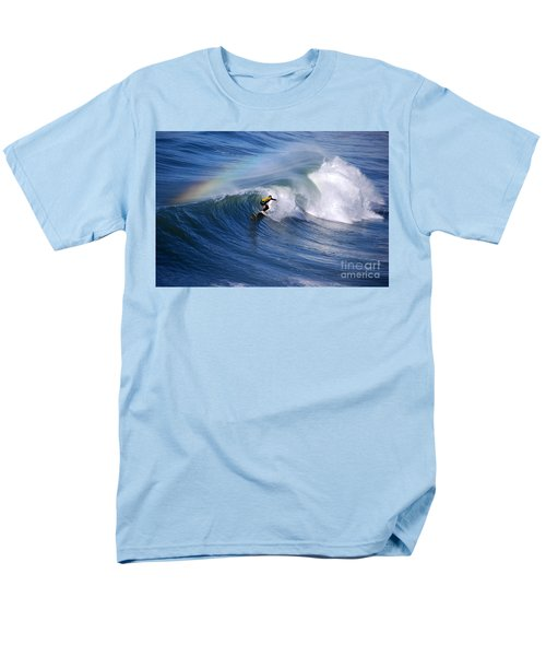 Surfing Under A Rainbow Men's T-Shirt  (Regular Fit) by Catherine Sherman
