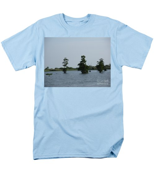 Men's T-Shirt  (Regular Fit) featuring the photograph Swamp Tall Cypress Trees  by Joseph Baril