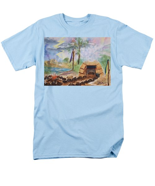 Sweat Lodge Men's T-Shirt  (Regular Fit) by Ellen Levinson