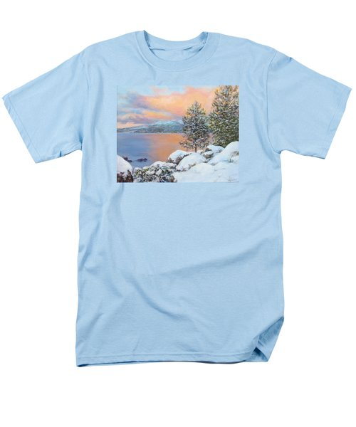 Tahoe Winter Colors Men's T-Shirt  (Regular Fit) by Donna Tucker