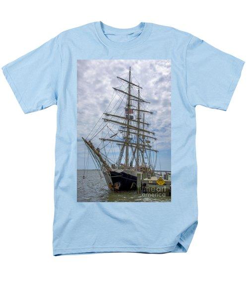 Tall Ship Gunilla Vertical Men's T-Shirt  (Regular Fit) by Dale Powell
