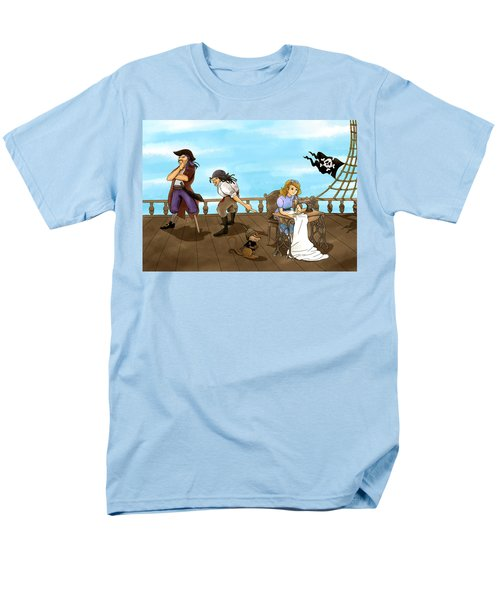 Men's T-Shirt  (Regular Fit) featuring the painting Tammy And The Pirates by Reynold Jay