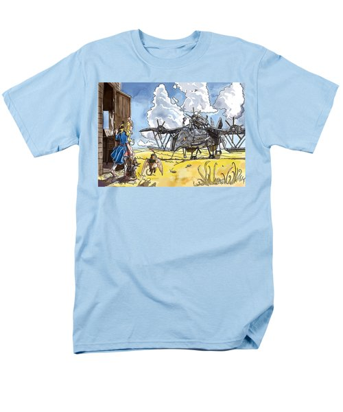 Men's T-Shirt  (Regular Fit) featuring the painting Tammy Sees A Thingamajig by Reynold Jay
