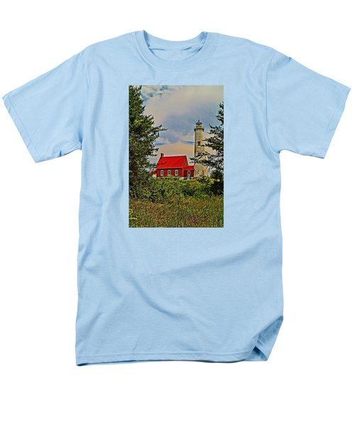 Tawas Point Light Retro Mode Men's T-Shirt  (Regular Fit) by Daniel Thompson