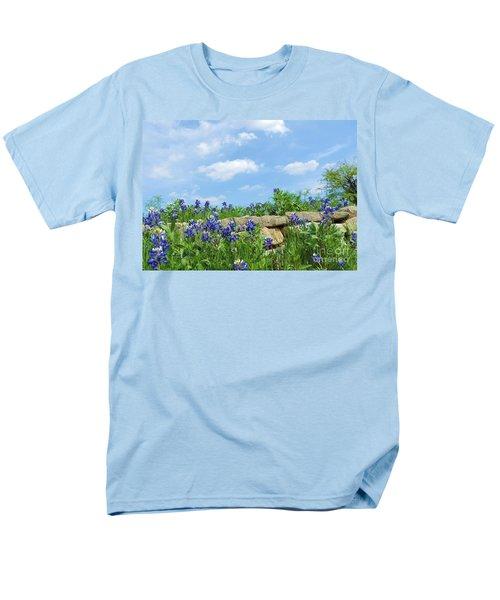 Texas Bluebonnets 08 Men's T-Shirt  (Regular Fit) by Robert ONeil
