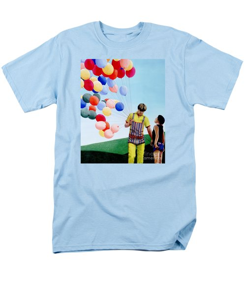 Men's T-Shirt  (Regular Fit) featuring the painting The Balloon Man by Michael Swanson
