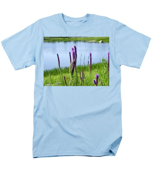 Men's T-Shirt  (Regular Fit) featuring the photograph The Beauty Of The Liatris by Verana Stark