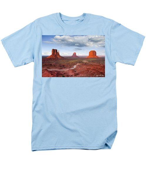 The Mittens And Merrick Butte At Sunset Men's T-Shirt  (Regular Fit) by Jeff Goulden