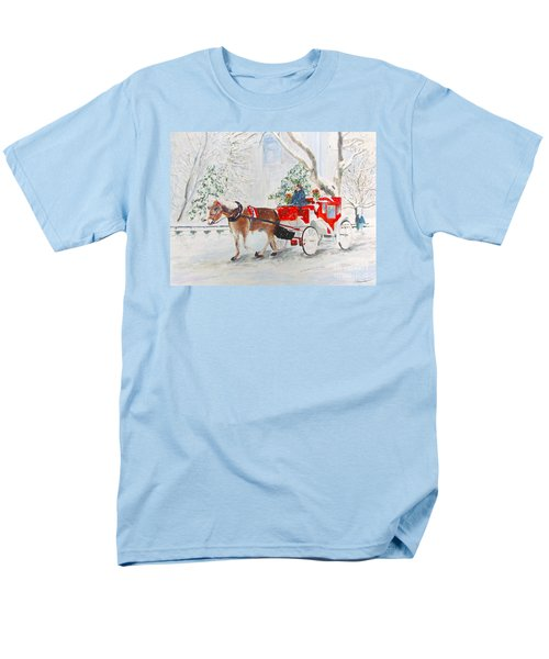 Men's T-Shirt  (Regular Fit) featuring the painting The Quiet Ride by Beth Saffer
