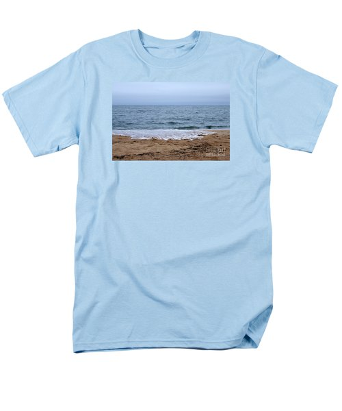 The Splash Over On A Sandy Beach Men's T-Shirt  (Regular Fit) by Eunice Miller
