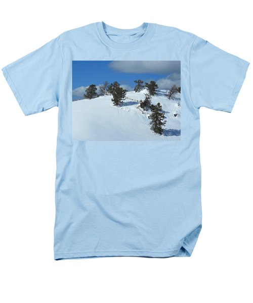 The Trees Take A Snow Day Men's T-Shirt  (Regular Fit) by Michele Myers