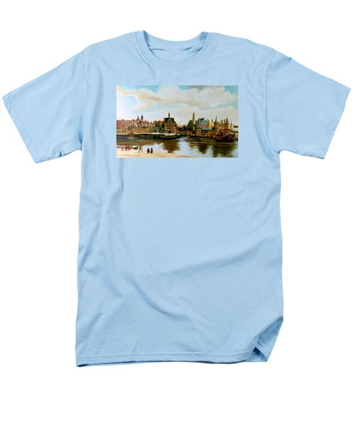 Men's T-Shirt  (Regular Fit) featuring the painting The View Of Delft by Henryk Gorecki