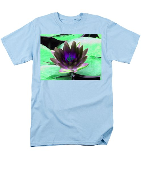 Men's T-Shirt  (Regular Fit) featuring the photograph The Water Lilies Collection - Photopower 1116 by Pamela Critchlow