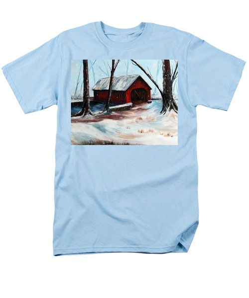 Men's T-Shirt  (Regular Fit) featuring the painting The Way Home by Meaghan Troup