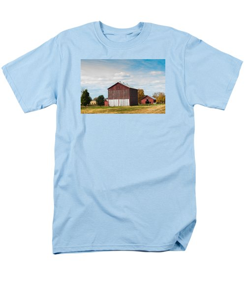 Men's T-Shirt  (Regular Fit) featuring the photograph Three In One Barns by Debbie Green
