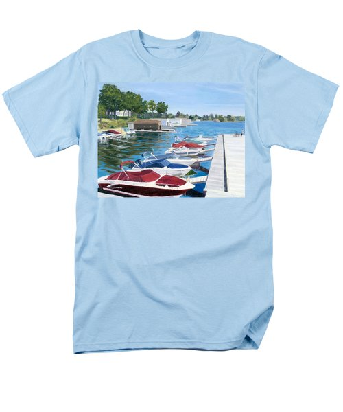 Men's T-Shirt  (Regular Fit) featuring the painting T.i. Park Marina by Lynne Reichhart