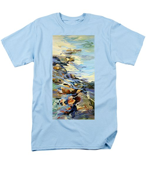 Men's T-Shirt  (Regular Fit) featuring the painting Tidepool 3 by Rae Andrews