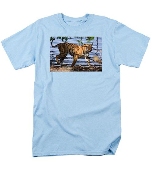 Tigress Along The Banks Men's T-Shirt  (Regular Fit) by Fotosas Photography