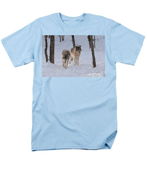 Men's T-Shirt  (Regular Fit) featuring the photograph Timber Wolf Pair  by Wolves Only