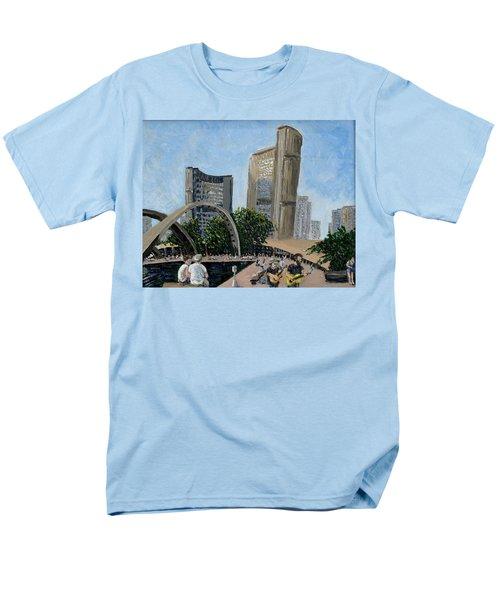 Toronto City Hall Men's T-Shirt  (Regular Fit) by Ian  MacDonald
