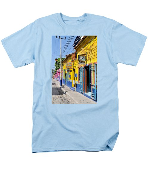 Men's T-Shirt  (Regular Fit) featuring the photograph Tourist Shops - Mexico by David Perry Lawrence