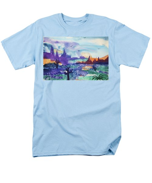Men's T-Shirt  (Regular Fit) featuring the painting Tranquility II by Ellen Levinson