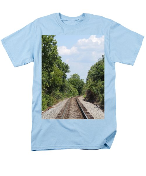Men's T-Shirt  (Regular Fit) featuring the photograph Traxs To Anywhere by Aaron Martens