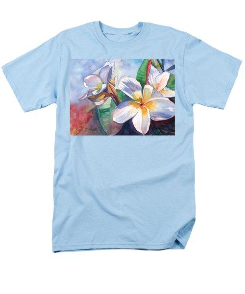 Tropical Plumeria Flowers Men's T-Shirt  (Regular Fit)