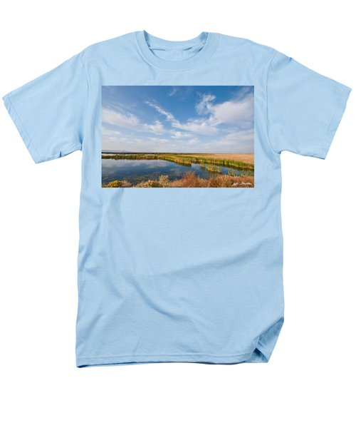 Men's T-Shirt  (Regular Fit) featuring the photograph Tule Lake Marshland by Jeff Goulden