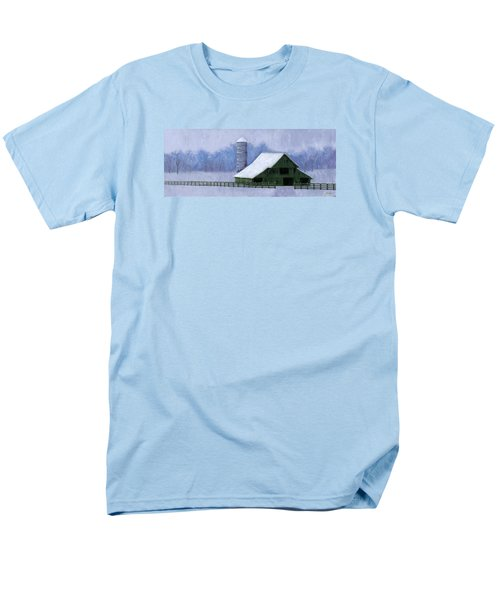 Men's T-Shirt  (Regular Fit) featuring the painting Turner Barn In Brentwood by Janet King