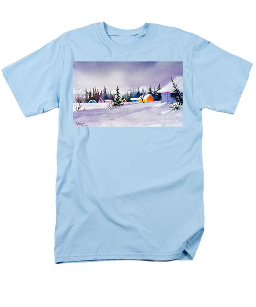 Men's T-Shirt  (Regular Fit) featuring the painting Tyonek Village Impression by Teresa Ascone