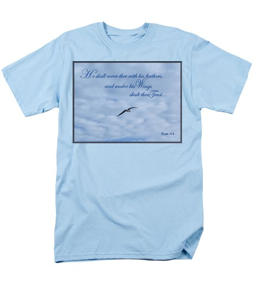 Men's T-Shirt  (Regular Fit) featuring the photograph Under His Wings by Larry Bishop