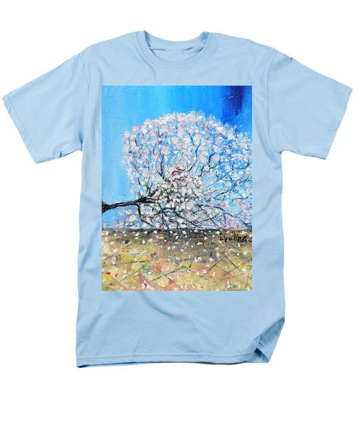 Men's T-Shirt  (Regular Fit) featuring the painting Unstable Position by Evelina Popilian