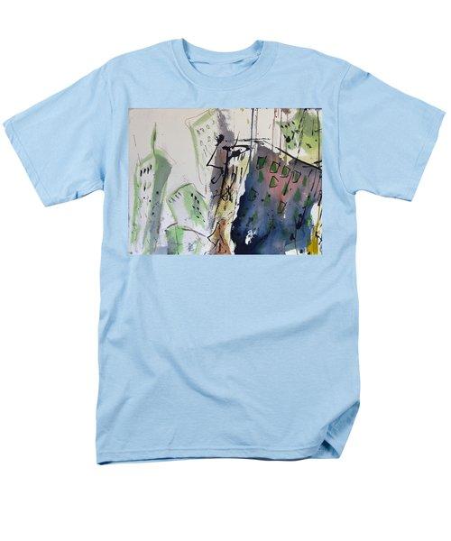 Men's T-Shirt  (Regular Fit) featuring the painting Uptown by Robert Joyner