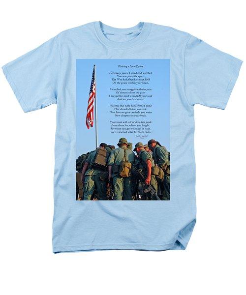 Veterans Remember Men's T-Shirt  (Regular Fit) by Carolyn Marshall