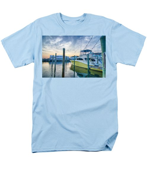 View Of Sportfishing Boats At Marina Men's T-Shirt  (Regular Fit) by Alex Grichenko