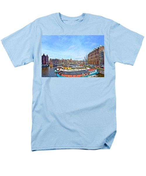 Waalseilandgracht Amsterdam Men's T-Shirt  (Regular Fit) by Frans Blok