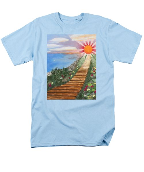 Men's T-Shirt  (Regular Fit) featuring the painting Waking Up Love by Cheryl Bailey