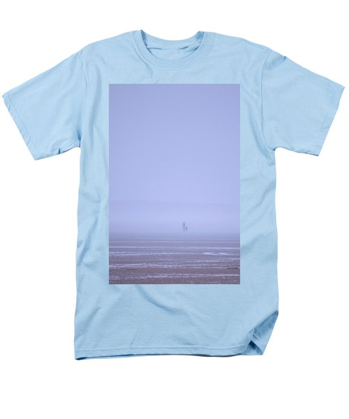 Walking The Dog In The Mist Men's T-Shirt  (Regular Fit) by Spikey Mouse Photography