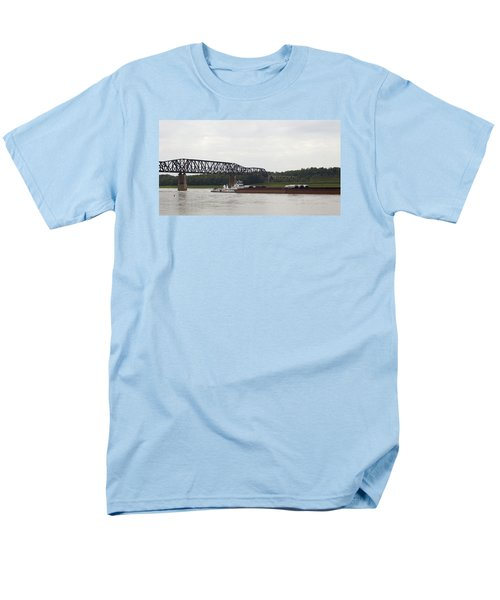 Water Under The Bridge - Towboat On The Mississippi Men's T-Shirt  (Regular Fit) by Jane Eleanor Nicholas