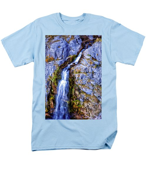 Waterfall-mt Timpanogos Men's T-Shirt  (Regular Fit) by David Millenheft