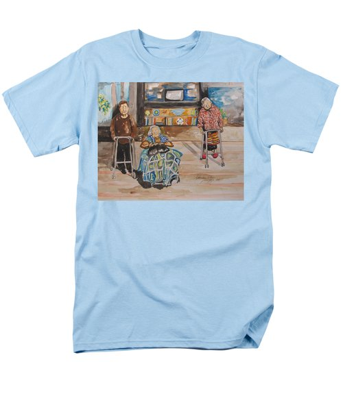 Men's T-Shirt  (Regular Fit) featuring the painting We're Still Here by Esther Newman-Cohen